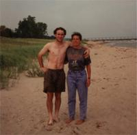 Mom and I Lake Michigan 1996