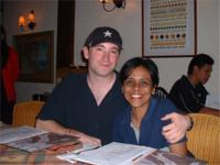 "Sharmini ""the angel"" and I 2001"